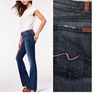 7 For All Mankind Bootcut Pink Stitch Jeans